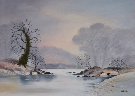 Winter Scene at Brushtrokes by Maura Donohue